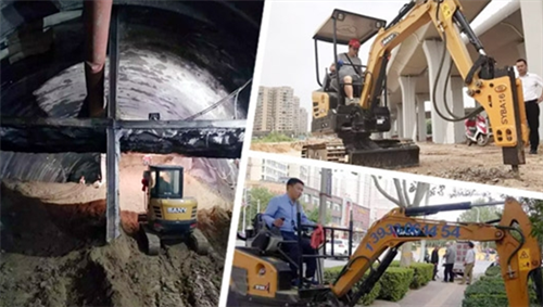 SANY mini excavator, a brilliant assistant for urban construction