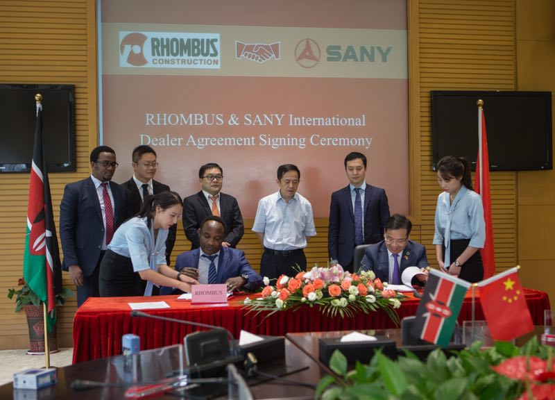 SANY signs its Kenyan dealer for a broader market