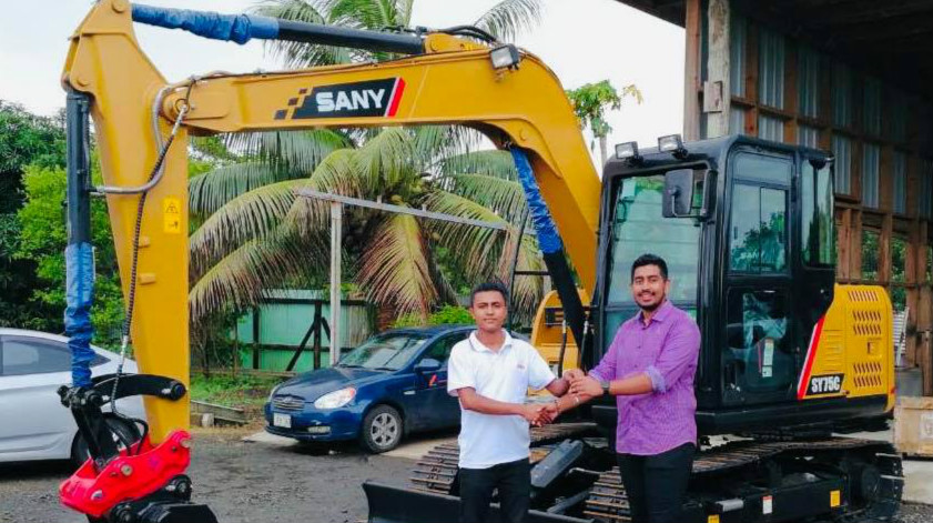 SANY expands market in Fiji by cooperating with its dealer
