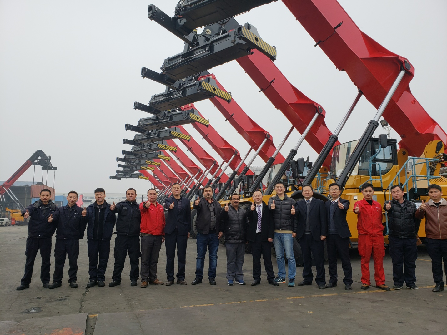 25 Reach Stackers Delivered to Indian Concor