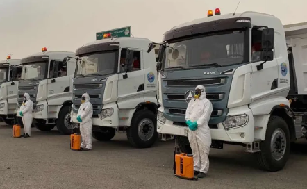 Sany Heavy trucks are highly praised in Kuwait Recently, 18 units of SANY heavy-duty off-road trucks were officially put into use in Kuwait. After full attendance for more than one month, the trucks won the high praises from local dealers and drivers.