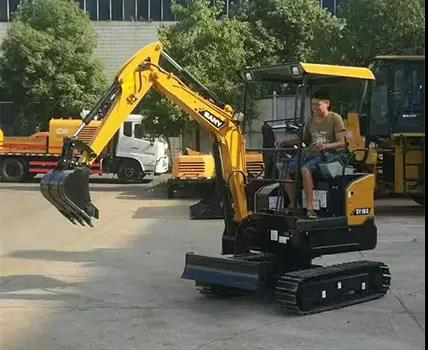 SANY mini excavators' test drive wins high appraisals from veterans