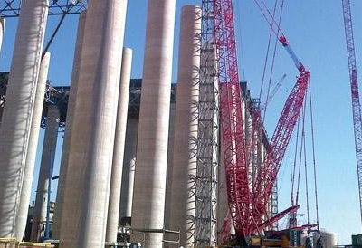 Sany's SCC7500 crawler crane supports largest power plant construction in Africa