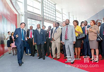 Envoys of 36 African Countries Visited Sany