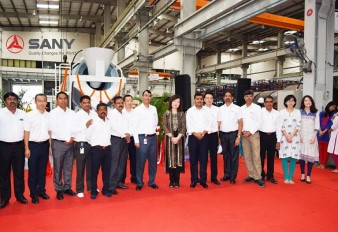 SANY India rolls out 1000th & 1001st machine from its Plant in Chakan, Pune