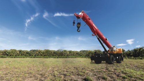 Sany unveils new rough terrain crane