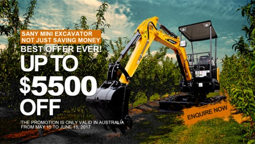 SANY Mini Excavators Unveil Best Offer Ever