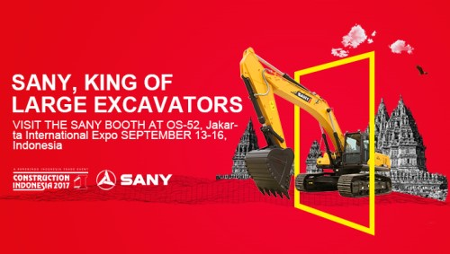 "SANY will show ""Made in China"" Power at Construction Indonesia 2017"