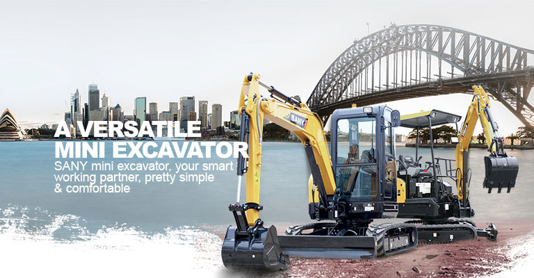 SANY mini excavator application: building construction, agri