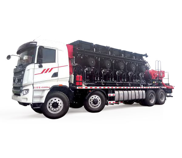 Model-2500 (4-shot) Distributed Power Hydraulic Transmission Fracturing Truck